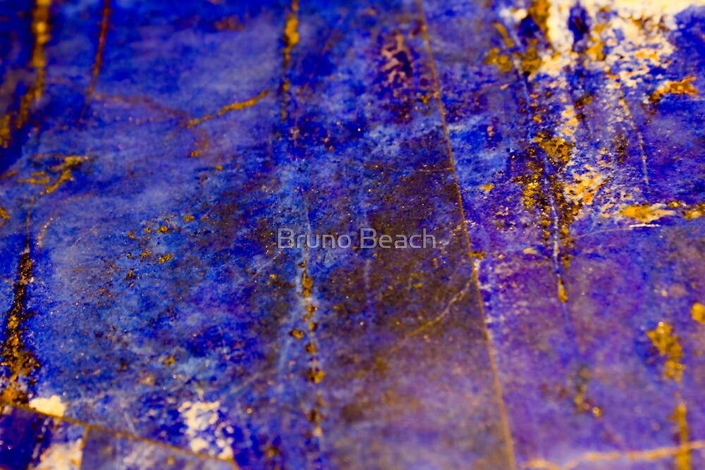 Blue marble - patterned texture background  by Bruno Beach