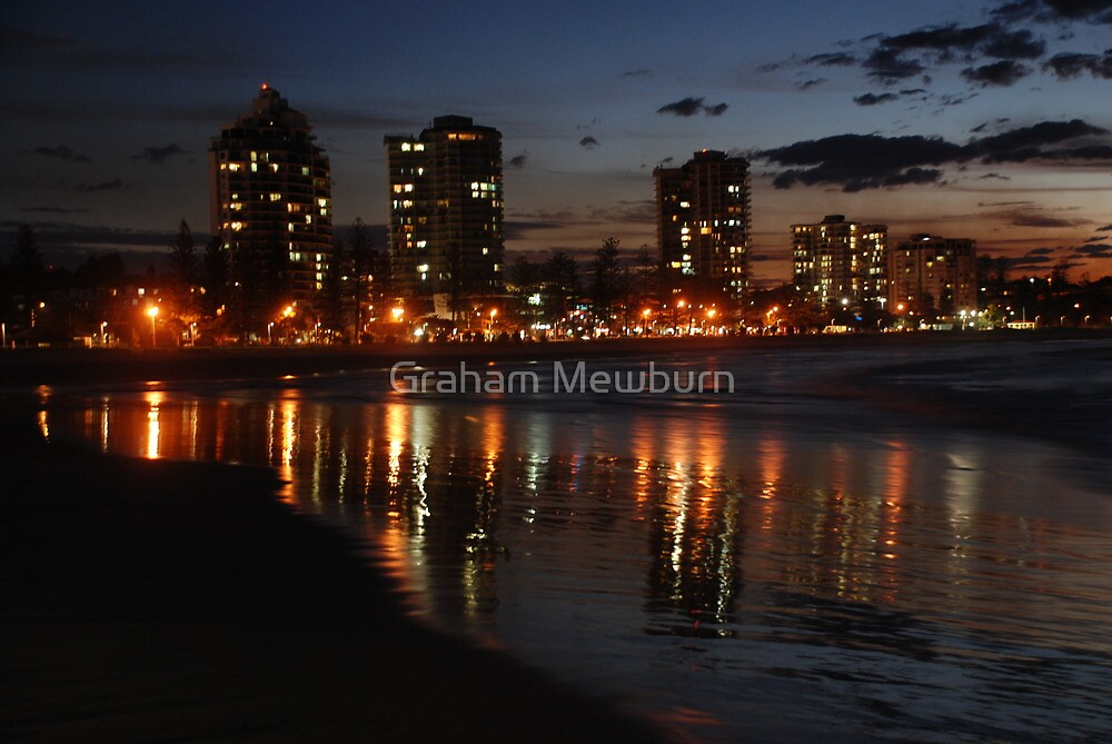 Wet Sand Reflections of Coolangatta by Graham Mewburn