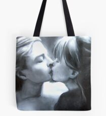 Paul Kissing Miss Polly (pastel and charcoal and chalk) Tote Bag