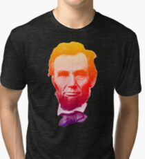 Big psychedelic Abe  Tri-blend T-Shirt