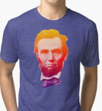 Big psychedelic Abe  Tri-blend T-Shirt