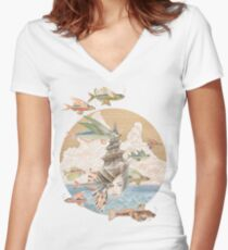 Sea Dream Women's Fitted V-Neck T-Shirt