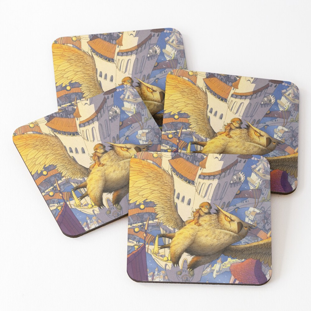 The spiral city Coasters (Set of 4)