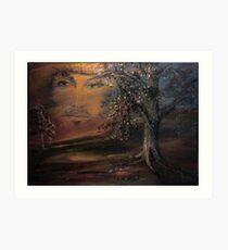 When trees beginn to paint ... Art Print