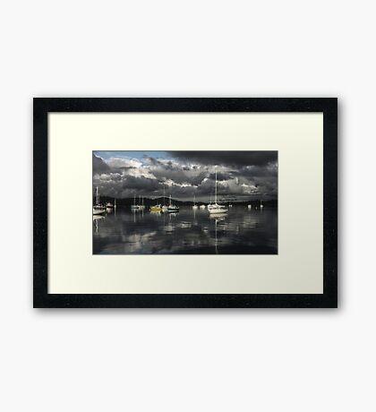 Port Dalrymple Yachts - Tamar River, Tasmania Framed Print