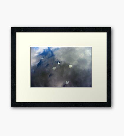 Sky Jellyfish - Tamar River, Tasmania Framed Print