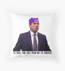Prison Mike - The Worst Thing About Prison Was the Dementors Throw Pillow