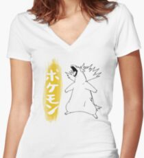 Typhlosion Women's Fitted V-Neck T-Shirt