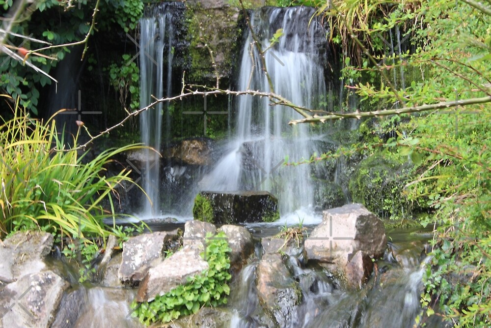 Waterfall, Cabot Tower - Bristol, England by Selena Chaplin