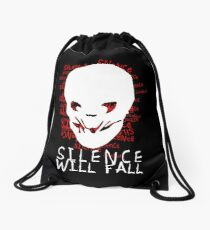 Silence Will Fall Drawstring Bag