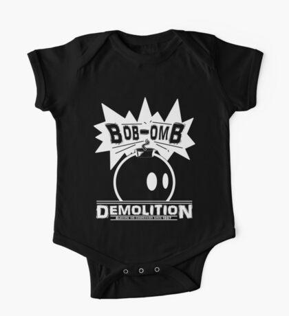 Bob-Omb Demolition White Kids Clothes