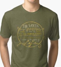 Walter Mitty Quote Graphic Tri-blend T-Shirt