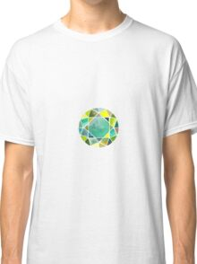 Green watercolor diamond Classic T-Shirt