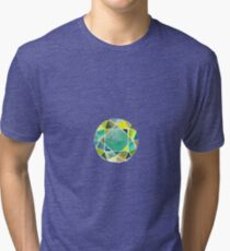 Green watercolor diamond Tri-blend T-Shirt