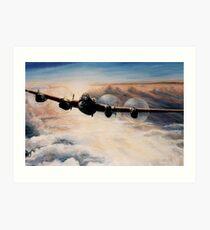Lanc at sunset Art Print