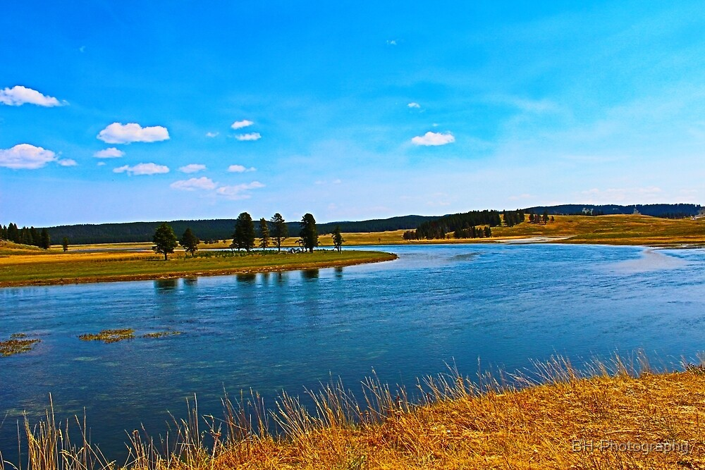 Yellowstone River in the Summer by BH-Photography