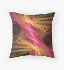 Flamingo Abstract Flame Fractal Throw Pillow