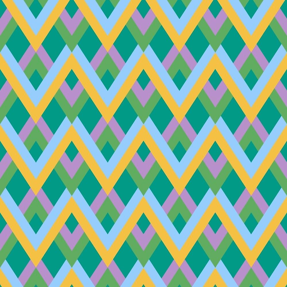 Abstract zigzag linear pattern by kylmaviha