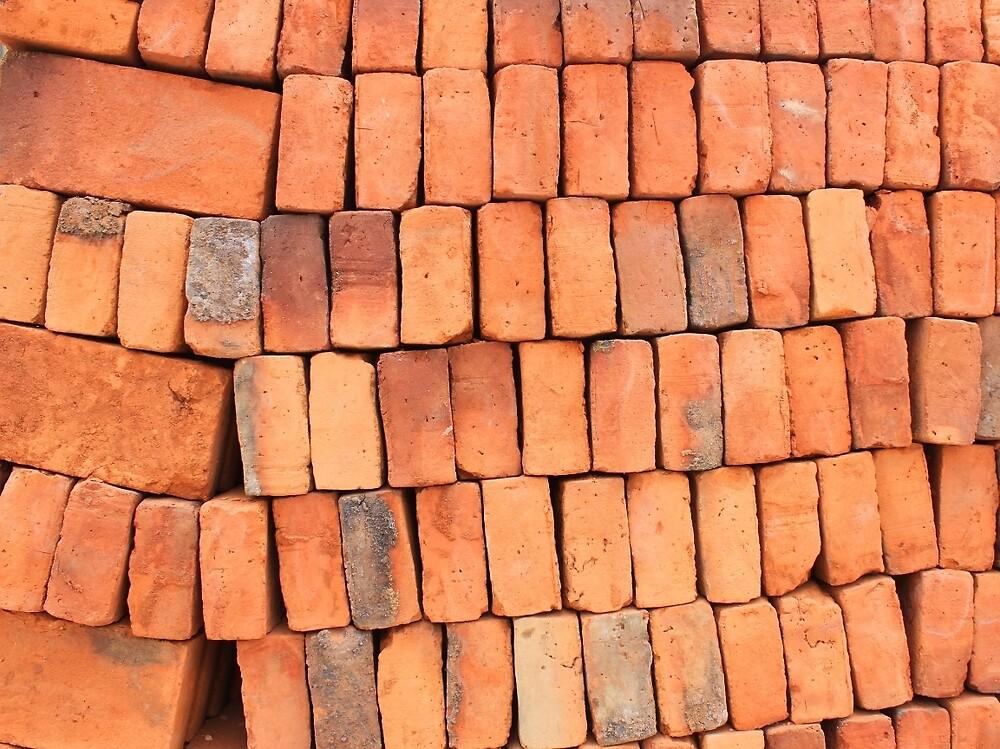 Stacked Adobe Bricks by rhamm