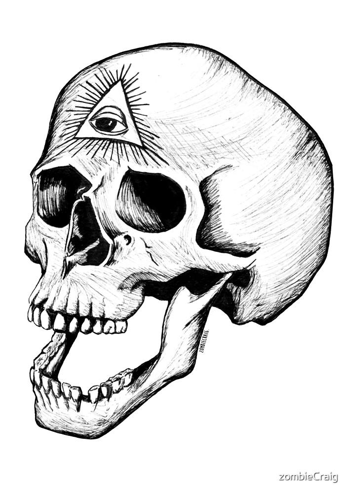 Illuminati Skull by zombieCraig