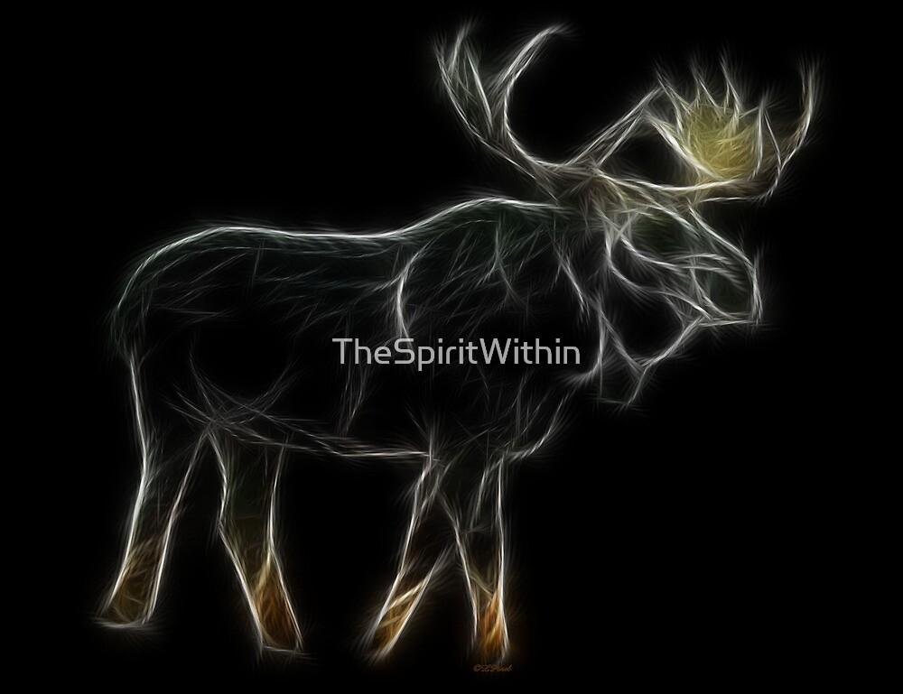 Medicine Wheel Totem Animals by Liane Pinel- Moose by Liane Pinel