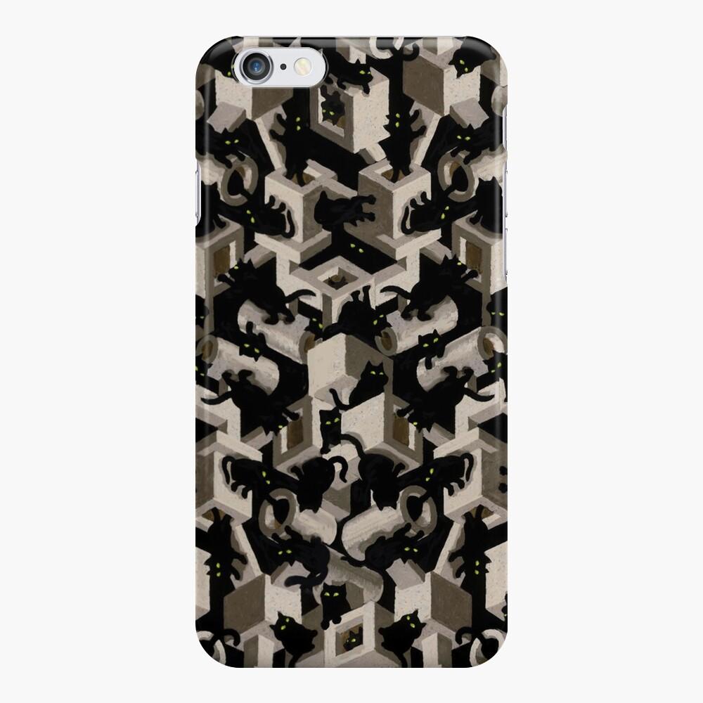 black cat tree optical illusion iPhone Case & Cover