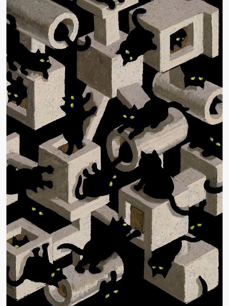 optische Täuschung des Baums der schwarzen Katze von stevesack