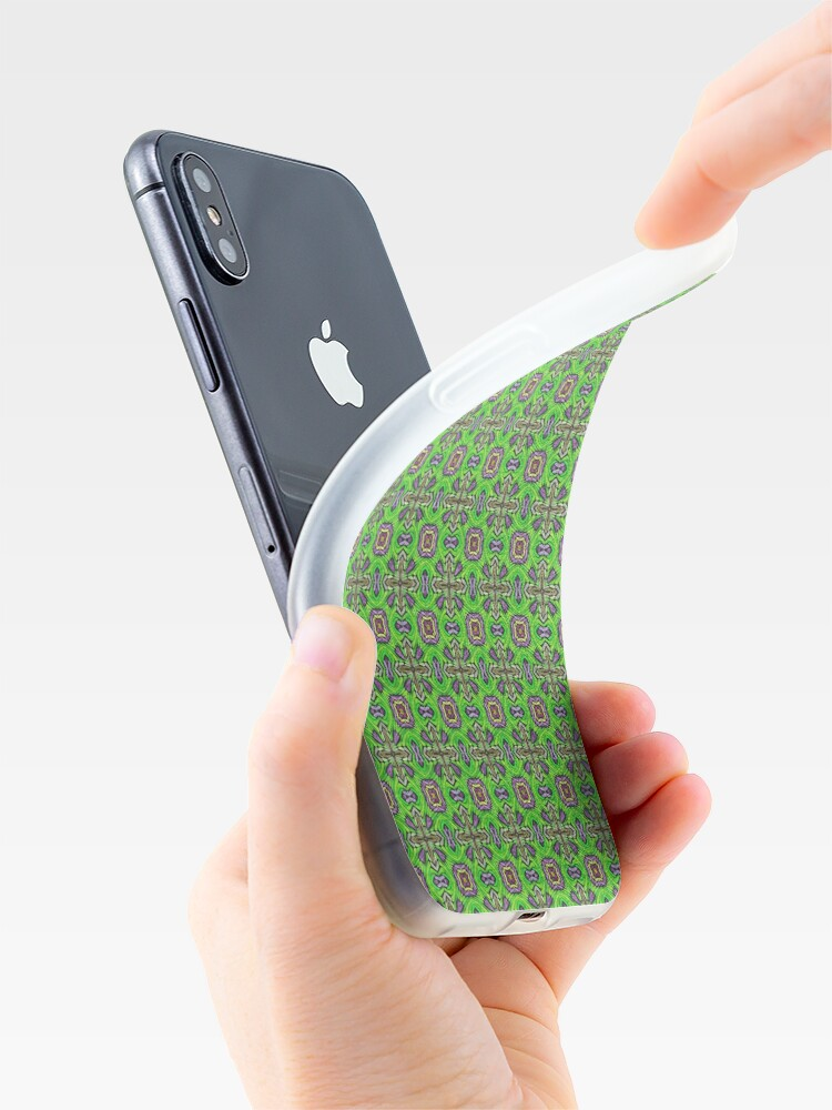 Alternate view of Green fabric iPhone Case & Cover