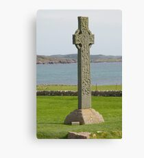 Celtic cross on Scottish Island of Iona Canvas Print