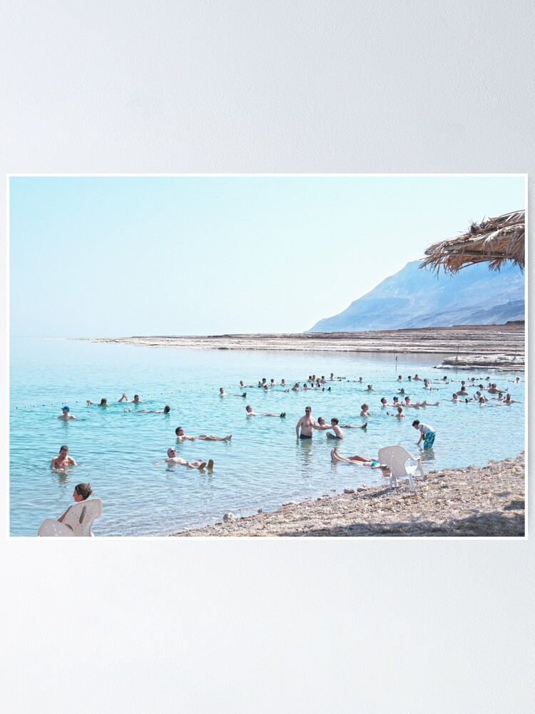 Alternate view of Dead Sea, Israel. Floating and Relaxing. Poster
