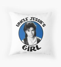 Uncle Jessie's Girl - Blue Throw Pillow