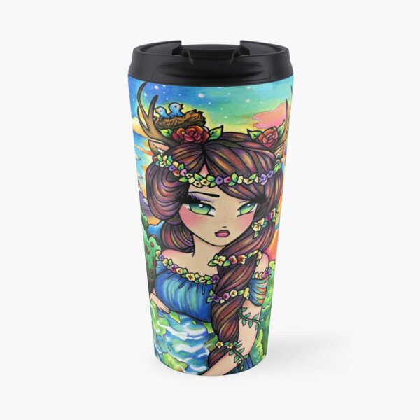 Mother Earth, Mother Nature Pregnant Fantasy Landscape Artwork Travel Mug
