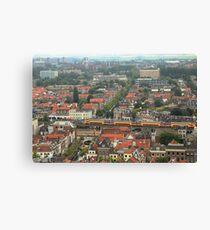 Delft rooftops Canvas Print