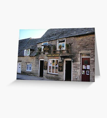 The Fox Inn, Corfe Castle Greeting Card