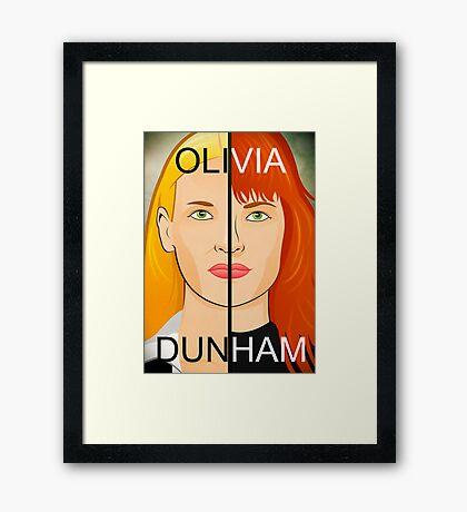 Olivia VS Fauxlivia   Fringe Framed Print