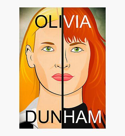 Olivia VS Fauxlivia   Fringe Photographic Print