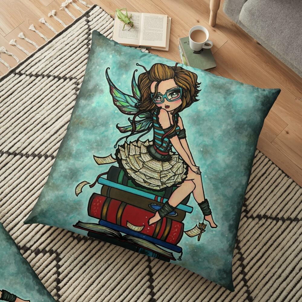 Library Fairy  Floor Pillow