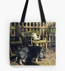 Cat and Pig Tote Bag