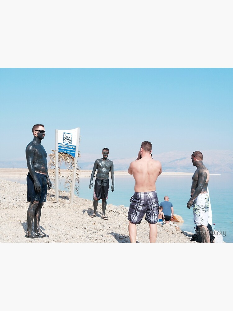 Dead Sea, Israel. Men and Mud. by UltraQuirky