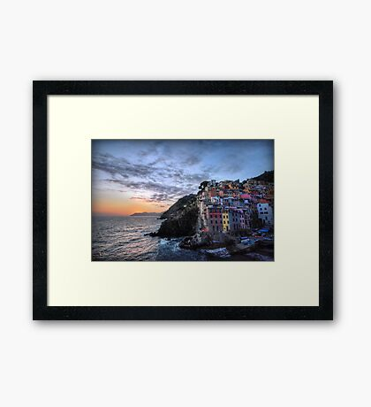Sunset at Riomaggiore Framed Print