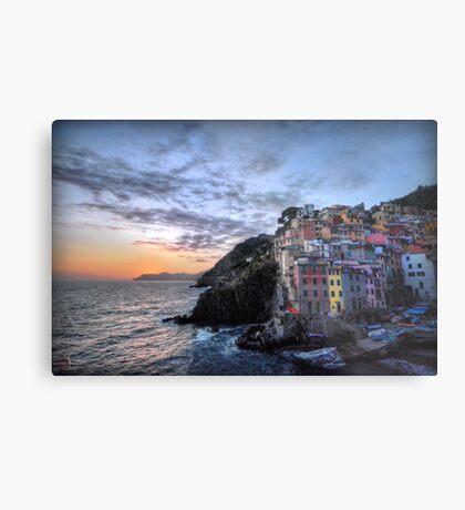 Sunset at Riomaggiore Metal Print