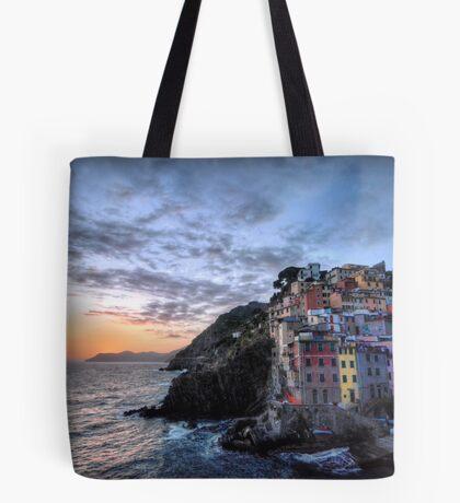 Sunset at Riomaggiore Tote Bag