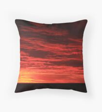 Fiery sunset in Adelaide Throw Pillow