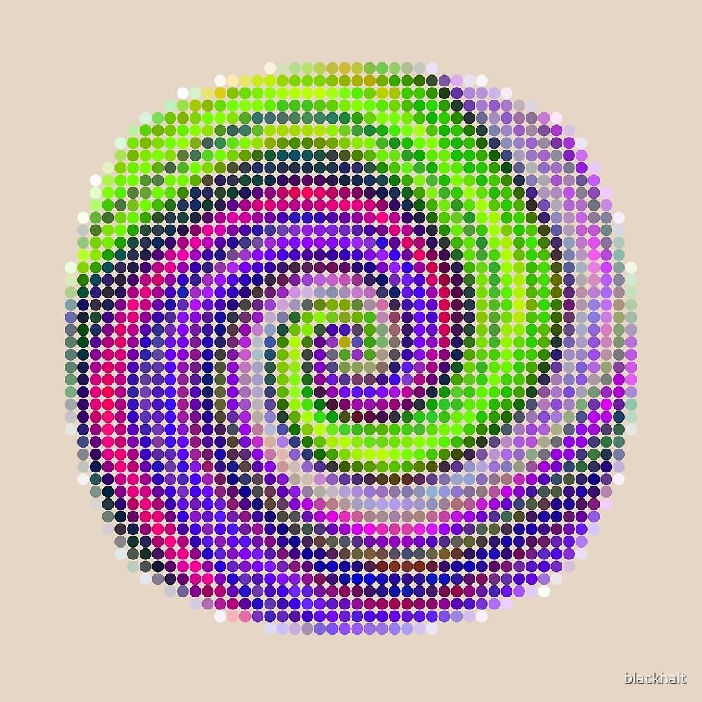 Pixel iris | Abstract random colors #20 by blackhalt