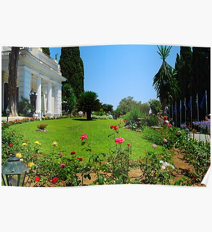Achilleion's Palace Gardens Poster