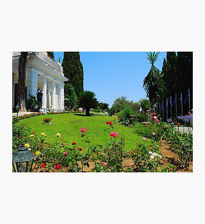 Achilleion's Palace Gardens Photographic Print