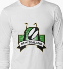 rugby ball goal post new zealand Long Sleeve T-Shirt