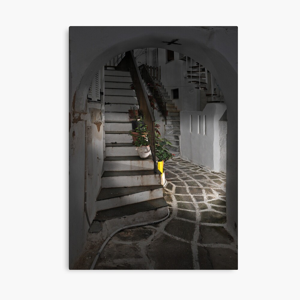 Two Staircases and an Alley Canvas Print