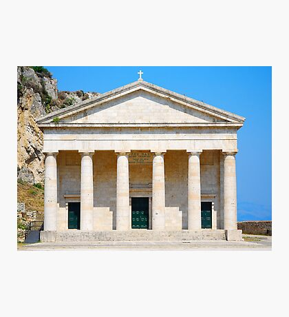St George's Church at the Palaio Frourio, Corfu Photographic Print