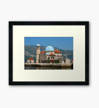 Our Lady of the Rock, Perast, Montenegro Framed Print